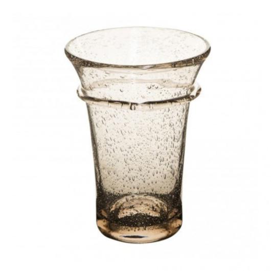 Fújt üveg mécsestartó M-es