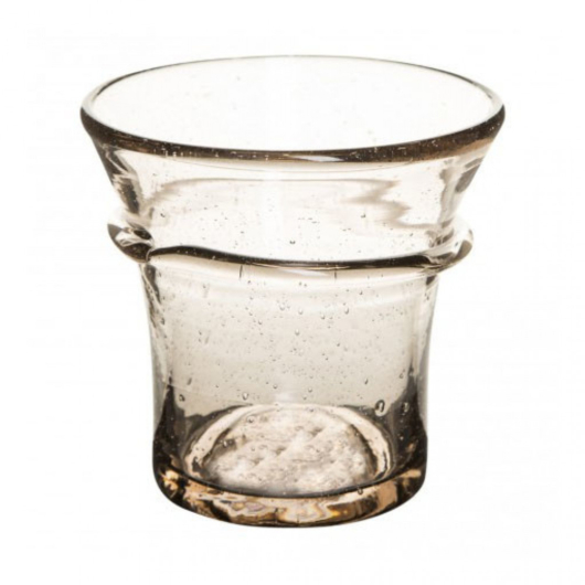 Fújt üveg mécsestartó S-es