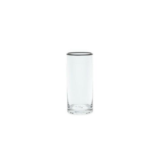 Szürke csíkos üvegpohár