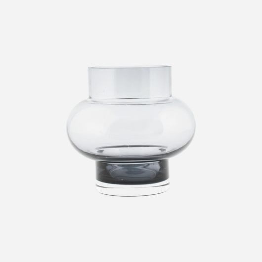 Füstüveg golyó váza